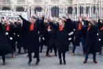Franse advocaten dansen