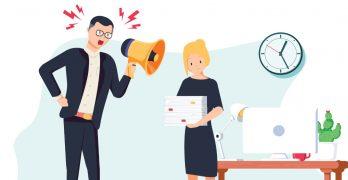 Onveilige werkomgeving - boze baas