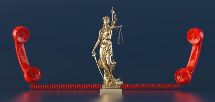 Rechtspraak en telehoren
