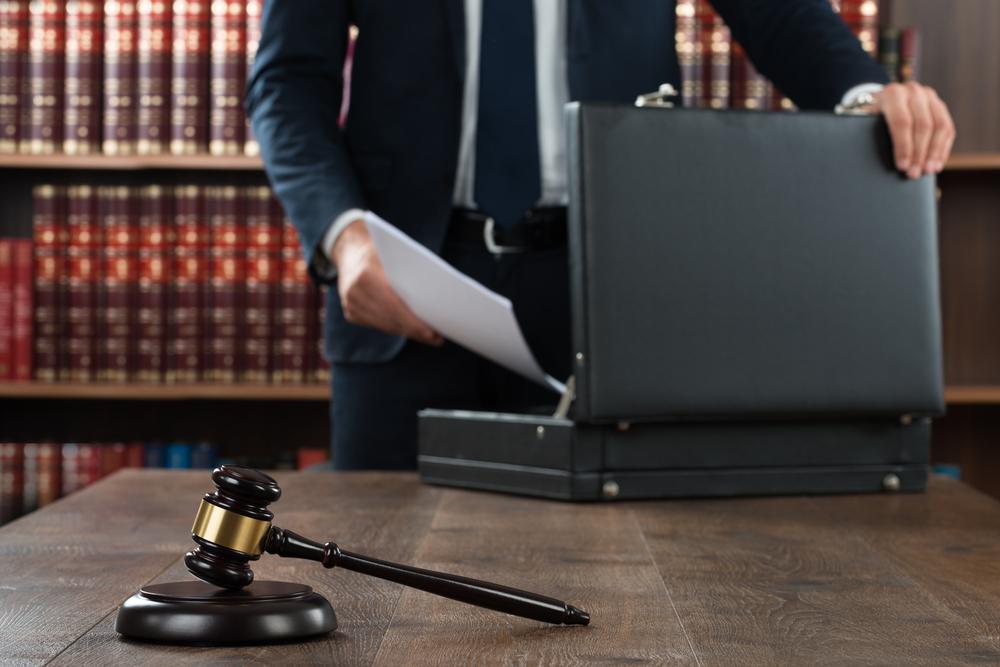 Advocaat in kantoor